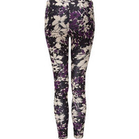 LILY WHITE Floral Womens Leggings