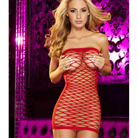 Hustler Red Web Rip Off Dress