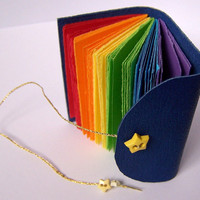 Etsy Transaction -        Teeny Tiny Be Happy Blank Rainbow Book