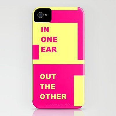 In One Ear - iPhone Art iPhone Case by Romi Vega | Society6