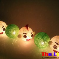 Set of 20 PCs. Dall and Color Thread Balls String Light for party and Christmas