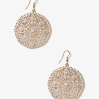Cutout Floral Circle Earrings | FOREVER21 - 1041187252