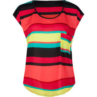 FULL TILT Stripe Double Pocket Womens Tee 191892957 | tops | Tillys.com