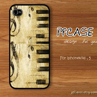 Music & Lyrics on piano style: Handmade Case for Iphone 4/4s , Iphone 5