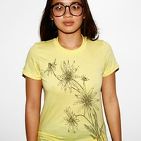 Blackeyed Susan Flower Graphic Tee Yellow Shirt by CritterJitters