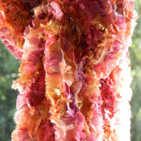SCARF pink and orange soft for women girls by knitella2011 on Etsy