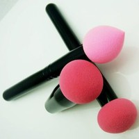 Amazon.com: New From Cheeky, Set of 3 Pro Beauty Flawless Makeup Blender / Makeup Sponge / and Sponge Brush / Foundation Puff. Multi Shape Makeup Sponges for Your Cosmetics Needs.: Beauty