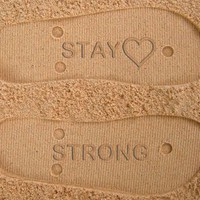 Stay Strong Custom Sand Imprint Flip Flops