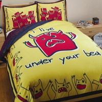 David & Goliath Monsters Duvet Collection in Yellow and Blue - Monsters Duvet Collection in Yellow and Blue - All Bedding Sets - Bedding Sets - Bed & Bath