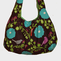 Big Bad Hobo Bag in Purple Echino Madrigal by CatandWolfDesigns
