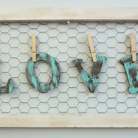 Wooden Letter Handmade Sign Love