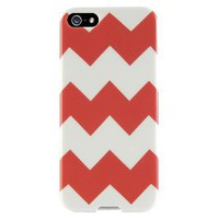 Agent18 Chevron Case for iPhone®4/4S - White/Orange (P4SSS/48)
