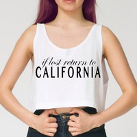 Return to Cali Crop Top from ShopWunderlust