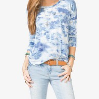 Tie Dyed Long Sleeve Knit Top