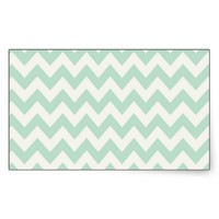 Light Green Chevron Rectangular Stickers from Zazzle.com