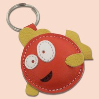 Cute Little Fish Leather Animal Keychain by snis on Etsy