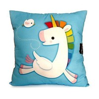 Deluxe Pillow Rainbow Unicorn Blue by mymimi on Etsy
