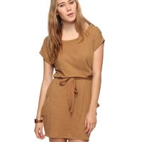 Self-Tie Slub Knit Dress | FOREVER21 - 2070220902