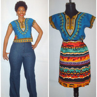 Vintage Ethnic Cropped Top