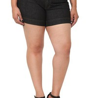 Dark Rinse High-Waist Denim Shorts | Retro Chic