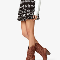 Tribal-Inspired Pleated Skirt | FOREVER 21 - 2039693416