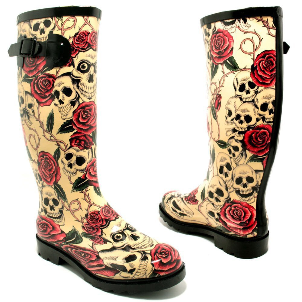 "Spy Love Buy Womens Festival Wellies Wellingtons Boots ""Savannah"""