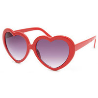 FULL TILT Heart Frame Sunglasses 194993300 | sunglasses | Tillys.com