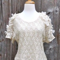 Flower Patch Crochet Top at OurChoix.com