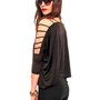 GYPSY WARRIOR - Cutout Dolman Blouse