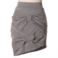 forever intertwined heather gray skirt
