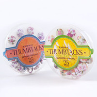 Fabric Thumbtacks-New Floral - See Jane Work