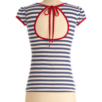 I Love You, I Love You Nautical Top | Mod Retro Vintage Short Sleeve Shirts | ModCloth.com