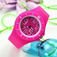Candy Color Watch with Silicone Strap