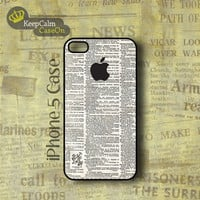 iPhone 5 Case, Vintage Apple Logo iPhone Case Hard Fitted iPhone 5 Case, iPhone 5 Hard Case