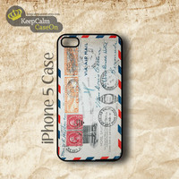 iPhone 5 Case, Retro Envelope iPhone Case Hard Fitted iPhone 5 Case, iPhone 5 Hard Case