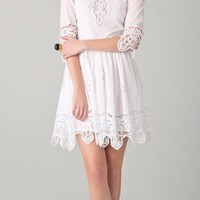 By Malene Birger Salisa Lace Trim Dress | SHOPBOP