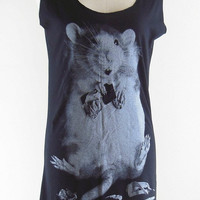 Rat Shirt Mickey Mouse Shirt -- Rat T-Shirt Animal Shirt Dress Women Tank Top Tunic Women Dress Shirt Sleeveless Mini Dress Shirt Size S