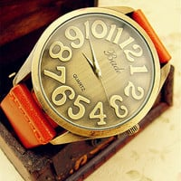 Creative Genuine leather Belt Watch