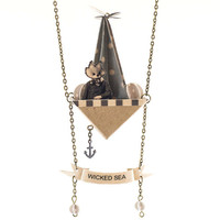 Wicked Sea Necklace / Banner and Boat /  Anchor and Fox by ByBeep