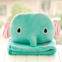 Multi-use Elephant Head Blanket&amp;Cushion