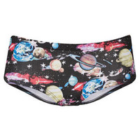 Galactic Planet Print Cheeky Pants - Girl Boxers & Shorties - Lingerie & Nightwear  - Clothing
