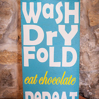Laundry Sign 12x24 Wood Sign