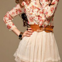 SPRING LOVE CHIFFON FASHION DAY DRESS