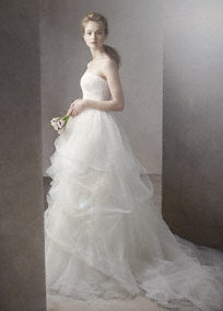 Ball Gown with Corded Lace Bodice and Tulle Skirt - David&#x27;s Bridal