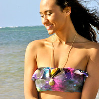 Hilo 1Ruffle Bikini Top - 1) Choose Style, 2) Choose Fabric 3) Choose Size