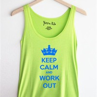 FLASH SALE: Keep Calm and Work out Tank Top