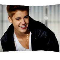 "Pillowcase JUSTIN BIEBER Boyfriend My World Believe Bedding Pillow Case Cover 30"" x 20"" New"