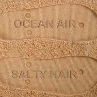 Ocean Air Salty Hair Custom Sand Imprint Flip Flops