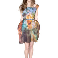 NEW Carina Nebula Cotton Voile Spring Galaxy Dress.