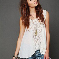 Free People  FP ONE Crochet Tank at Free People Clothing Boutique